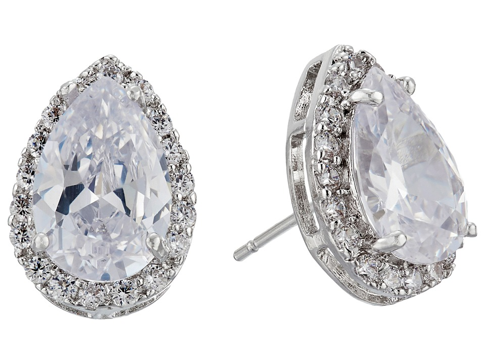 Nina - Bridal Earrings (Rhodium/CZ) Jewelry Sets