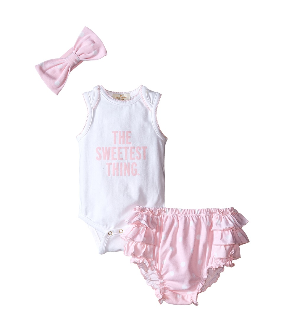 Kate Spade New York Kids The Sweetest Thing Gift Set Infant Fresh White/Cotton Candy Girls Jumpsuit Rompers One Piece