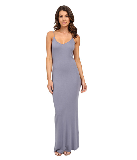 HEATHER Rib Slit Back Maxi Dress