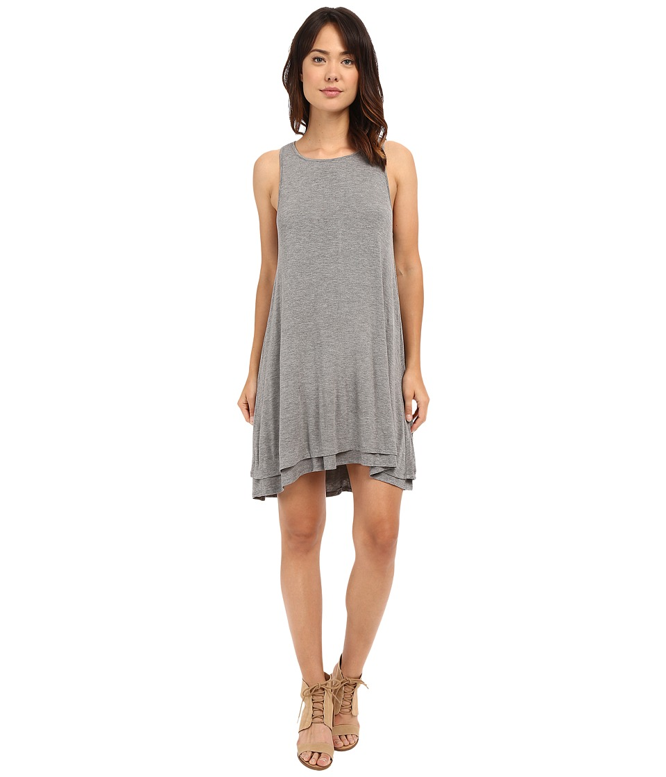 HEATHER Back Keyhole Dress Heather Grey Womens Dress