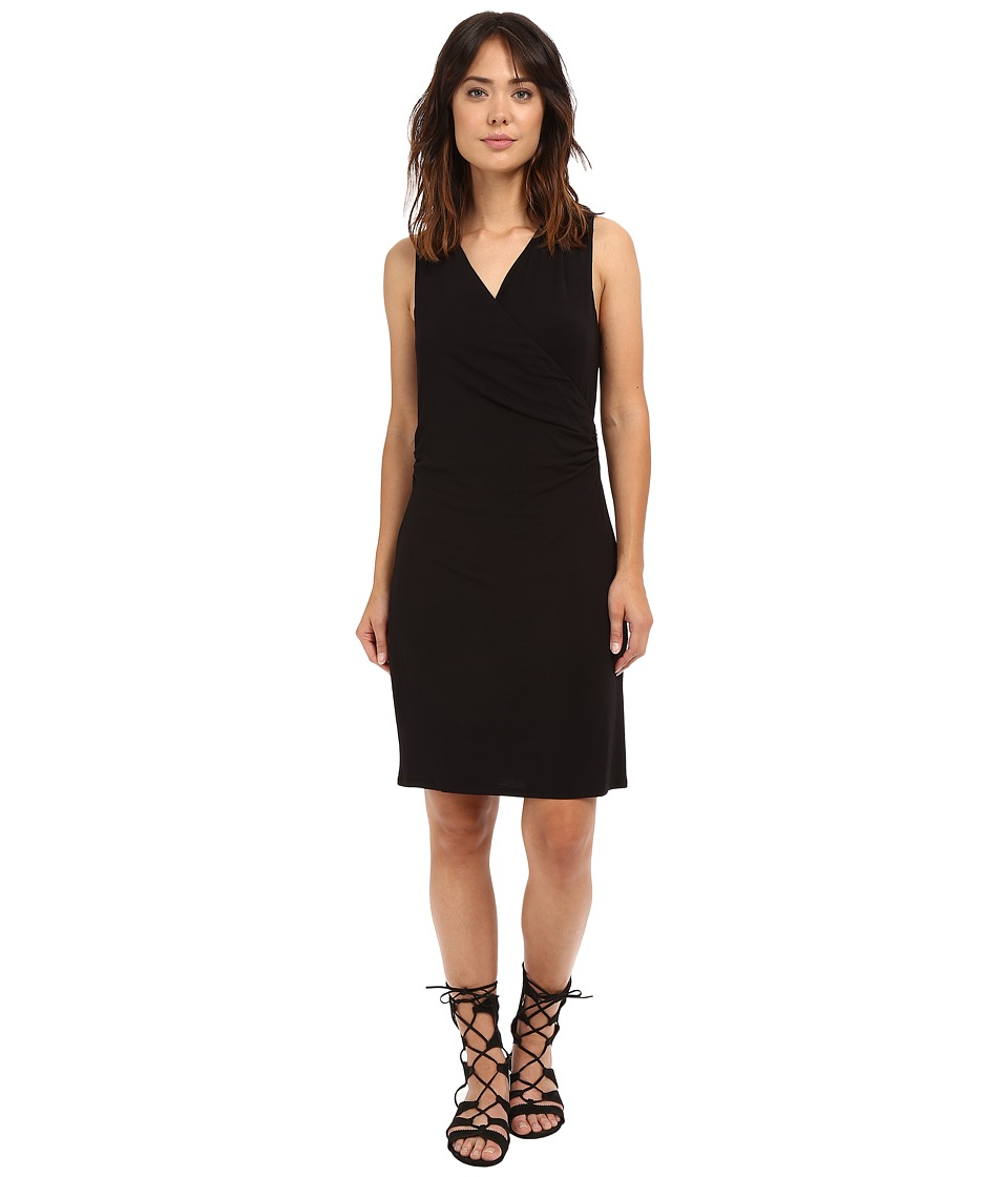 HEATHER Cross Front Dress Black Womens Dress