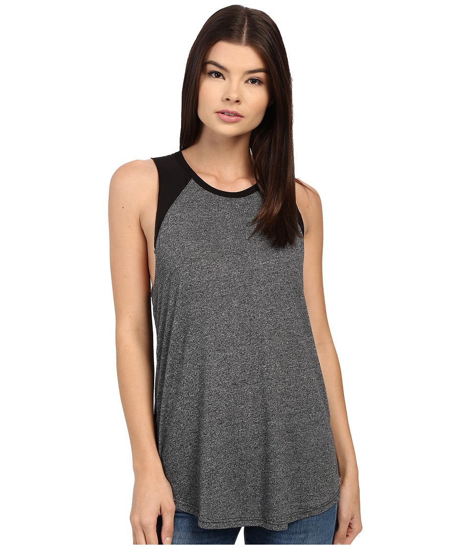 Obey Bianca Cut Off Raglan Heather Black Womens Sleeveless