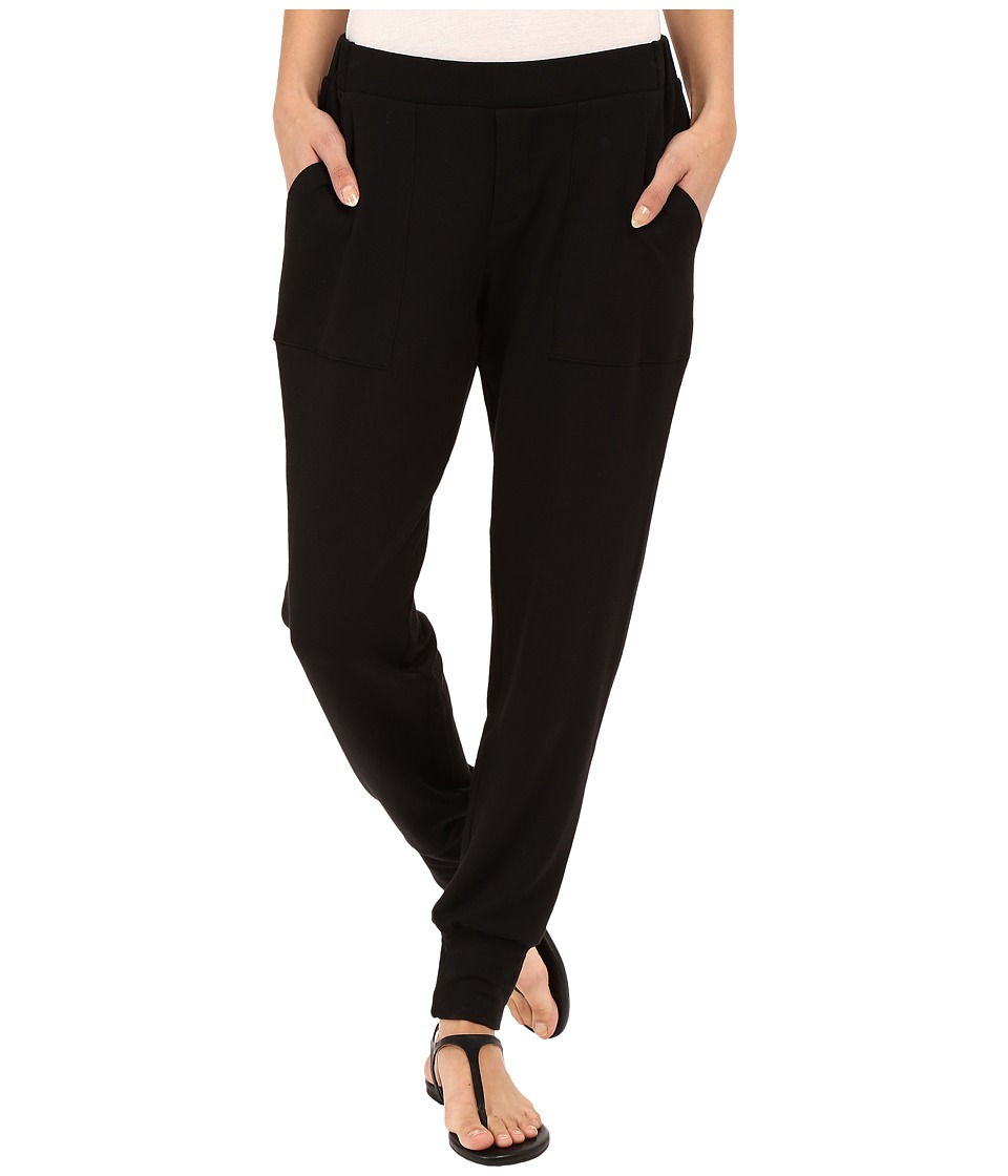 HEATHER French Terry Jogger Black Womens Casual Pants