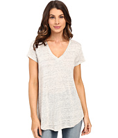 HEATHER - Linen V-Neck Tee