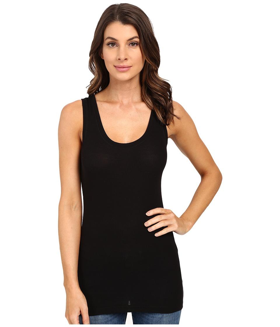 HEATHER - Basic Rib Tank Top (Black) Womens Sleeveless
