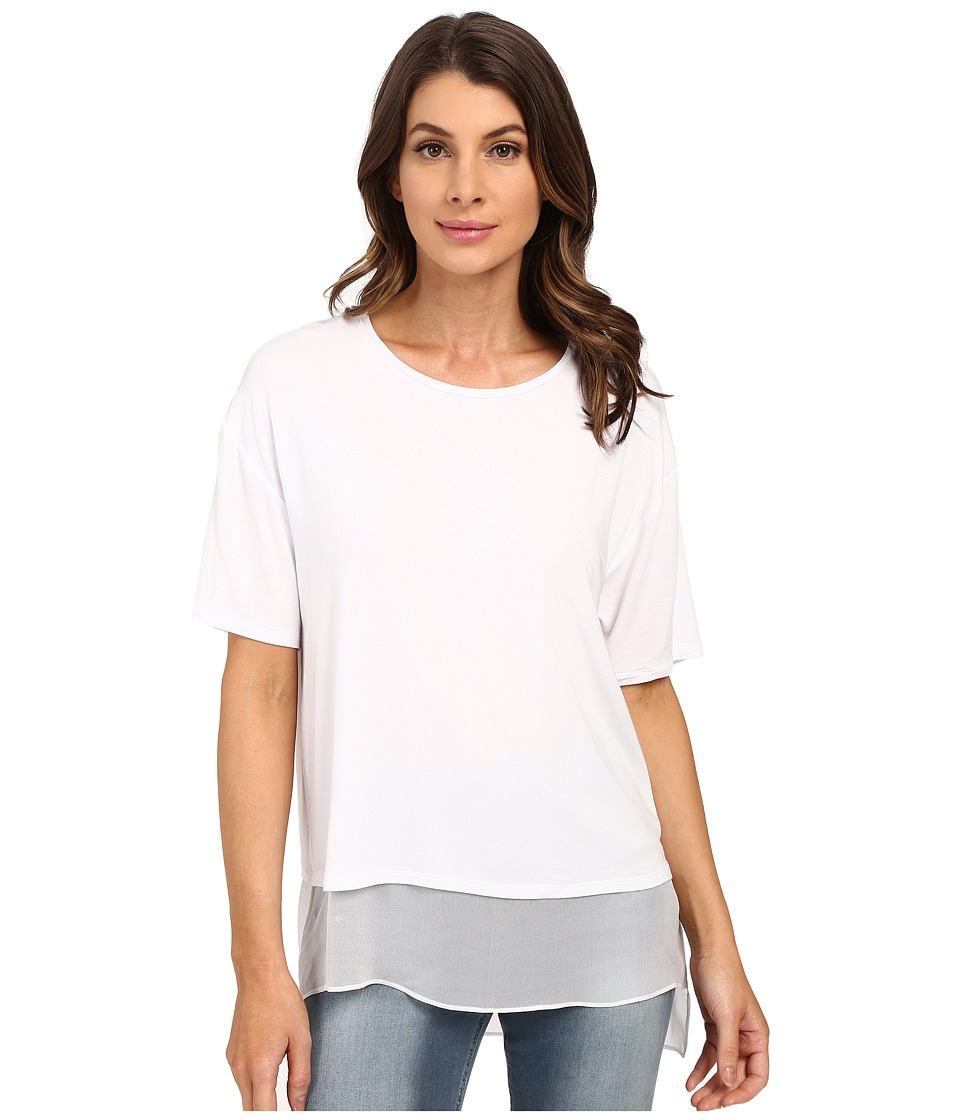 HEATHER - Silk Lined Tee (White) Women