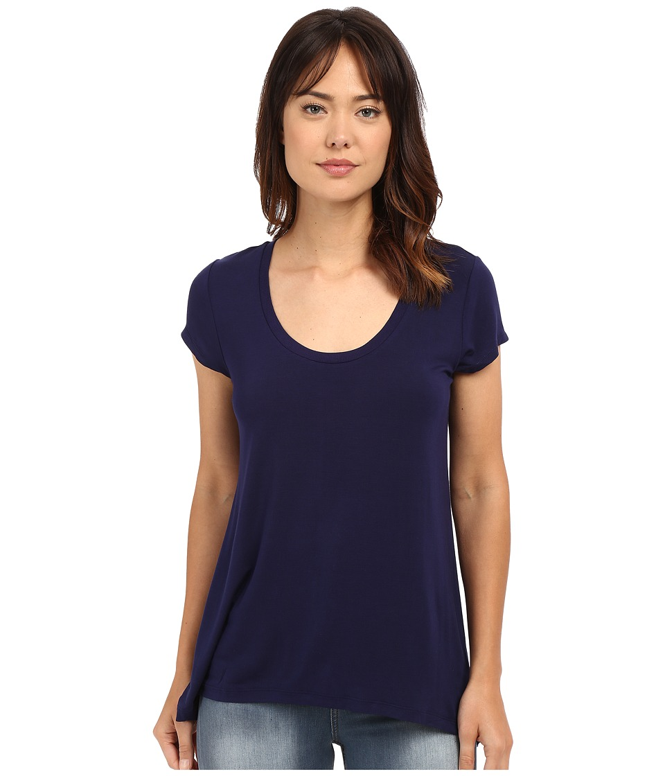 HEATHER Scoop Neck Tee Eclipse Womens Short Sleeve Pullover