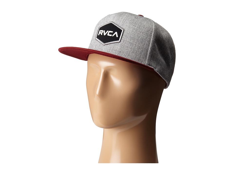 RVCA Commonwealth Snapback Heather Grey 1 Baseball Caps