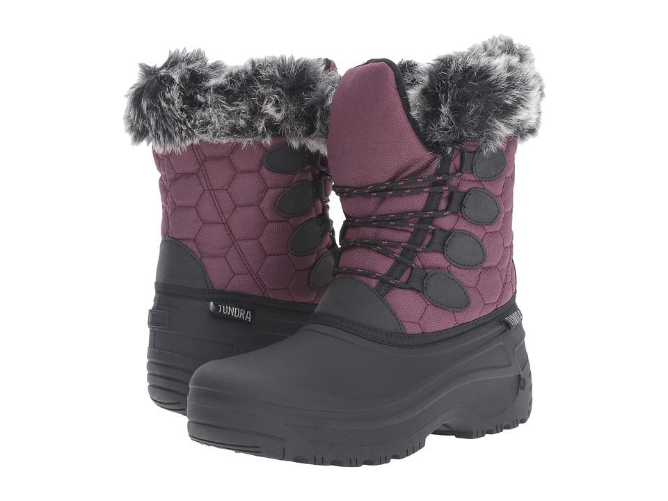 Tundra Boots - Gayle (Black/Marsala) Women