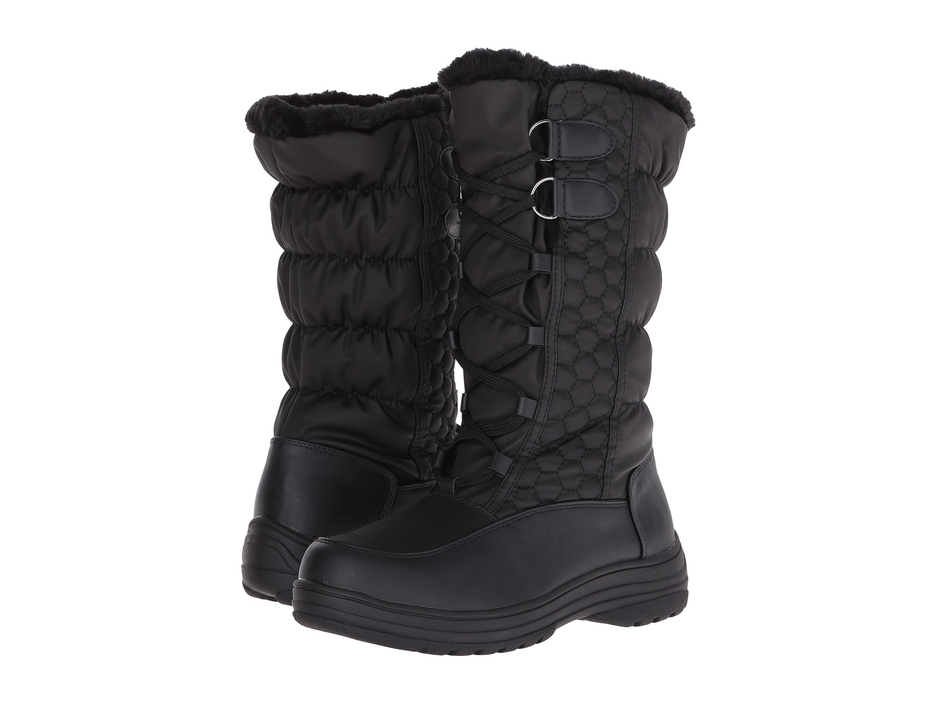 giant black booties You want a tiny, tight cuff, not a giant doughnut of fabric at the ankle.