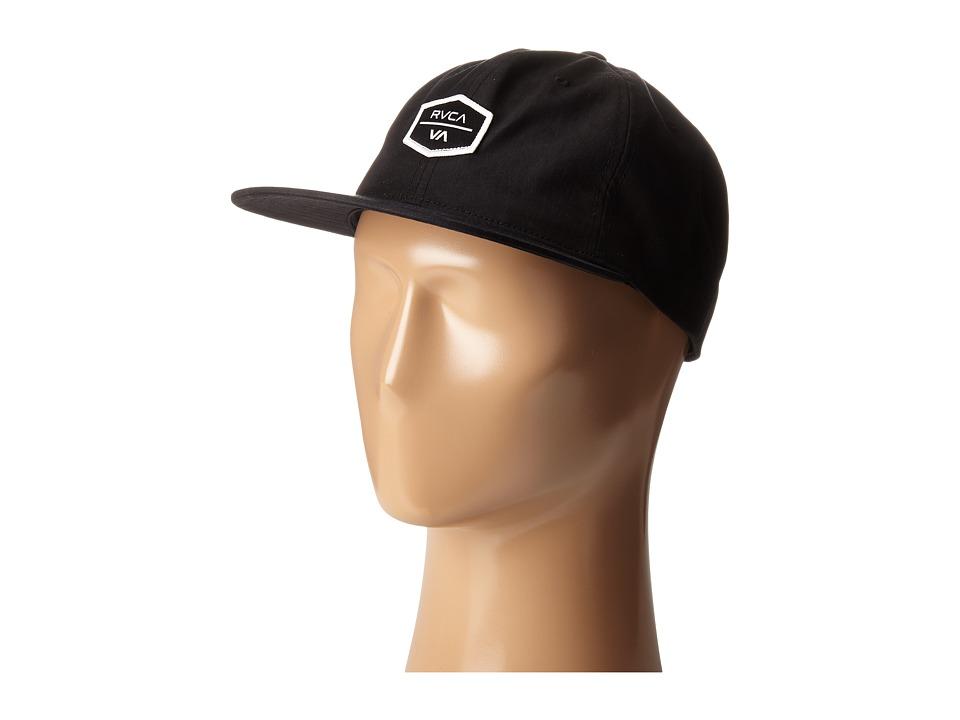RVCA Frame Six Panel Hat Black Caps