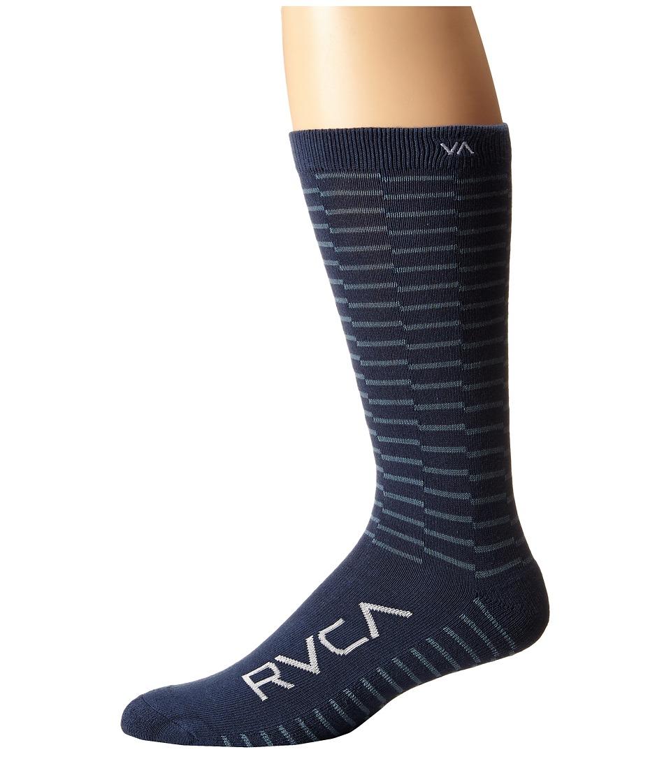 RVCA Makeshift Sock Stellar Mens Crew Cut Socks Shoes