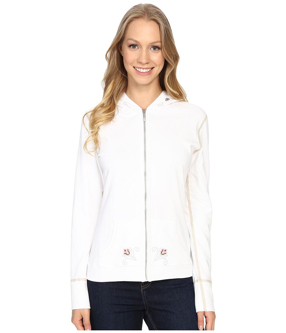 Alp n Rock Summer Bloom Hoodie White Womens Sweatshirt