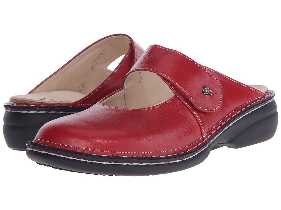 Finn Comfort Stanford 2552 Red Womens Clog Shoes