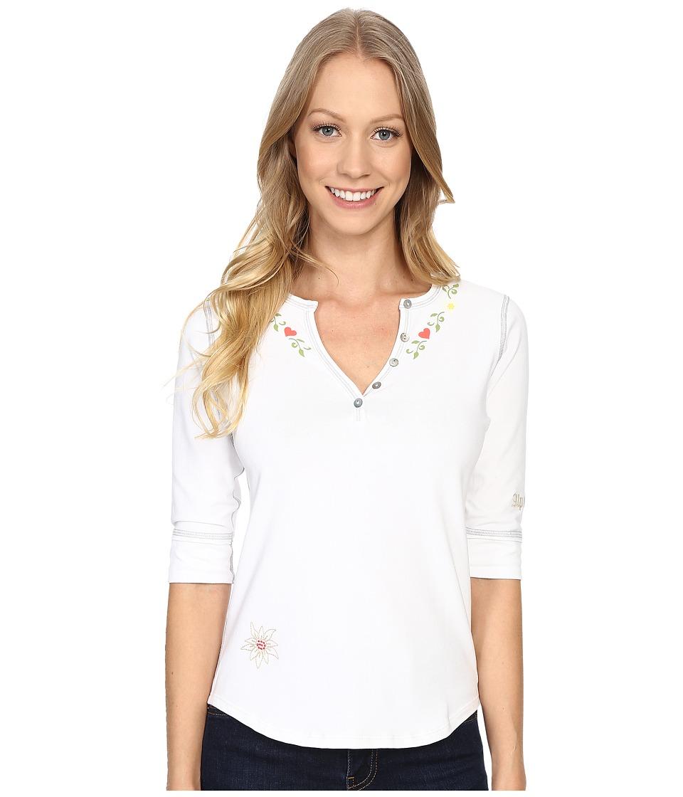Alp n Rock Alpine Retreat II Henley Shirt White Womens Clothing