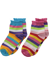 Jefferies Socks - Stripe Anklet 2-Pair Pack (Infant/Toddler/Little Kid/Big Kid)