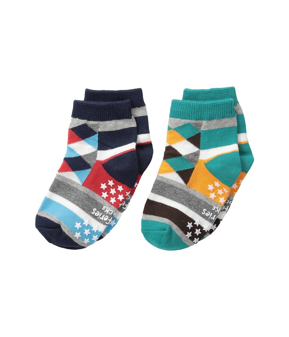 Jefferies Socks Diamond Stripes 2 Pack Infant/Toddler/Little Kid/Big Kid Multi Boys Shoes