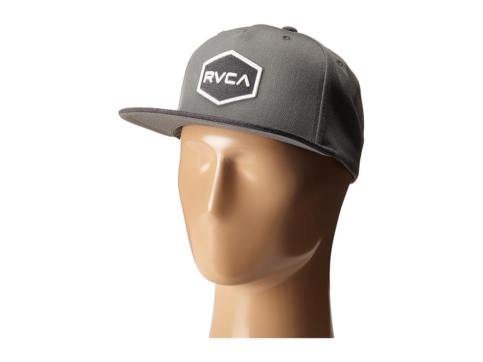 RVCA Commonwealth Snapback Grey Baseball Caps
