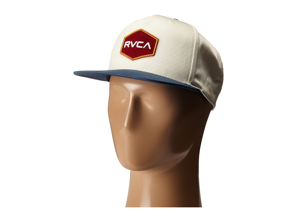 RVCA Commonwealth Snapback White/Blue Baseball Caps