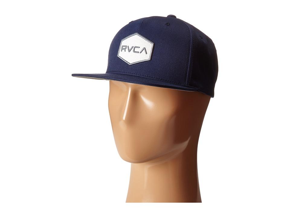 RVCA Commonwealth Snapback Navy 1 Baseball Caps