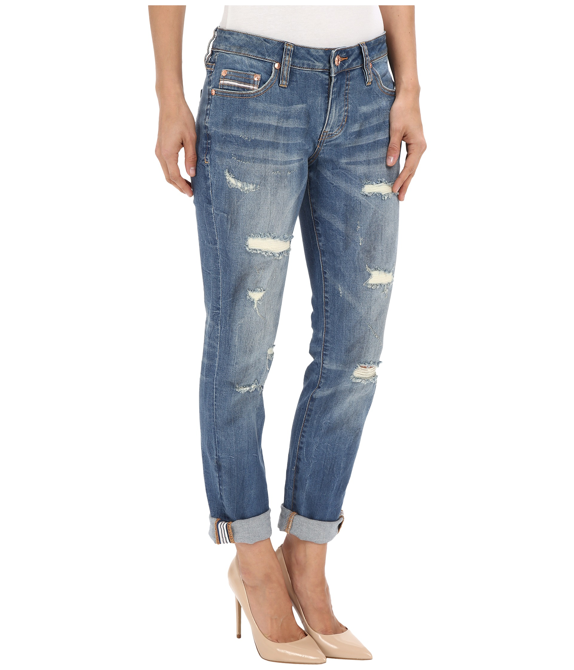 Jag Jeans Alex Boyfriend Capital Denim in Blue Carbon - Zappos.com Free Shipping BOTH Ways