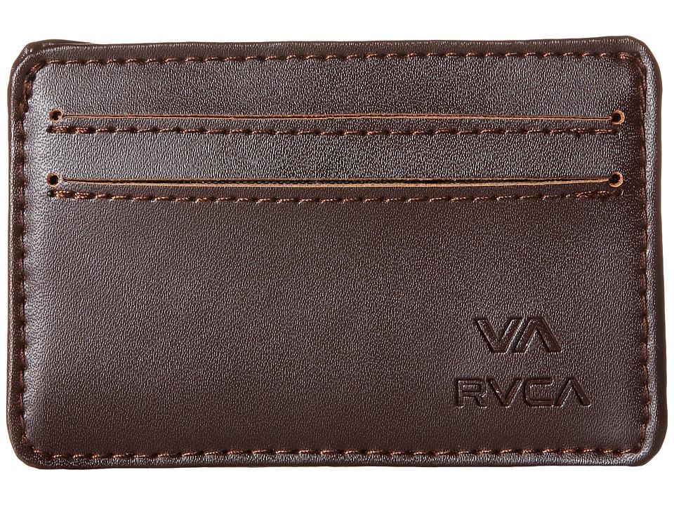 RVCA Card Wallet Brown Wallet Handbags