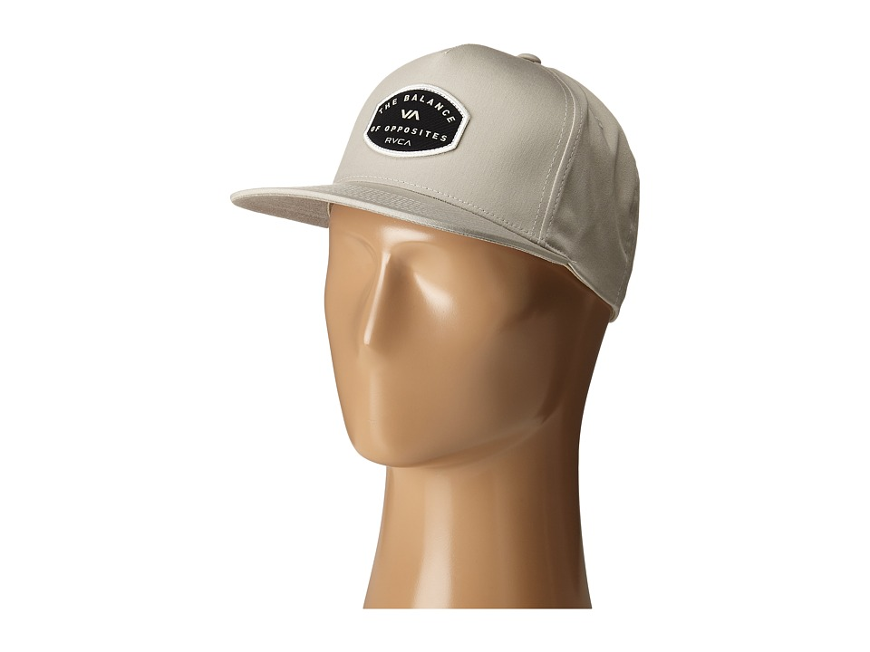 RVCA Balance Sheild Five Panel Beige Caps