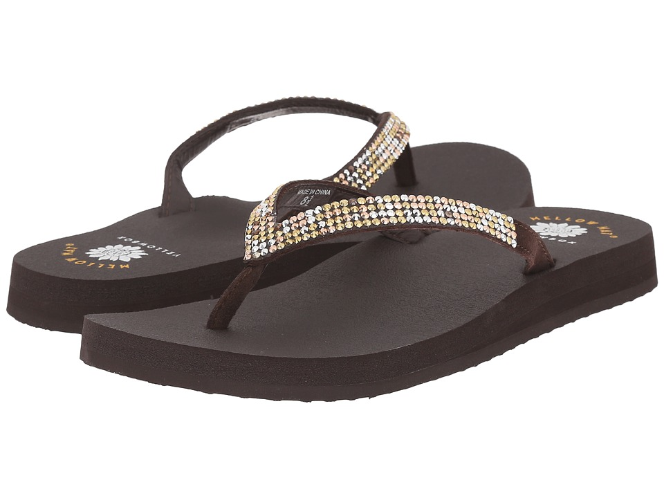 Yellow Box Ricki Brown Multi Womens Sandals