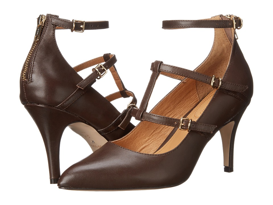Corso Como Carter Dark Brown Leather High Heels