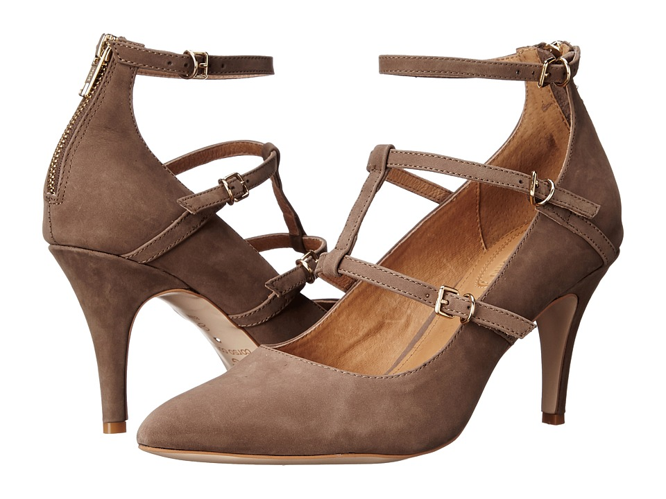 Corso Como Carter Mid Brown Nubuck High Heels