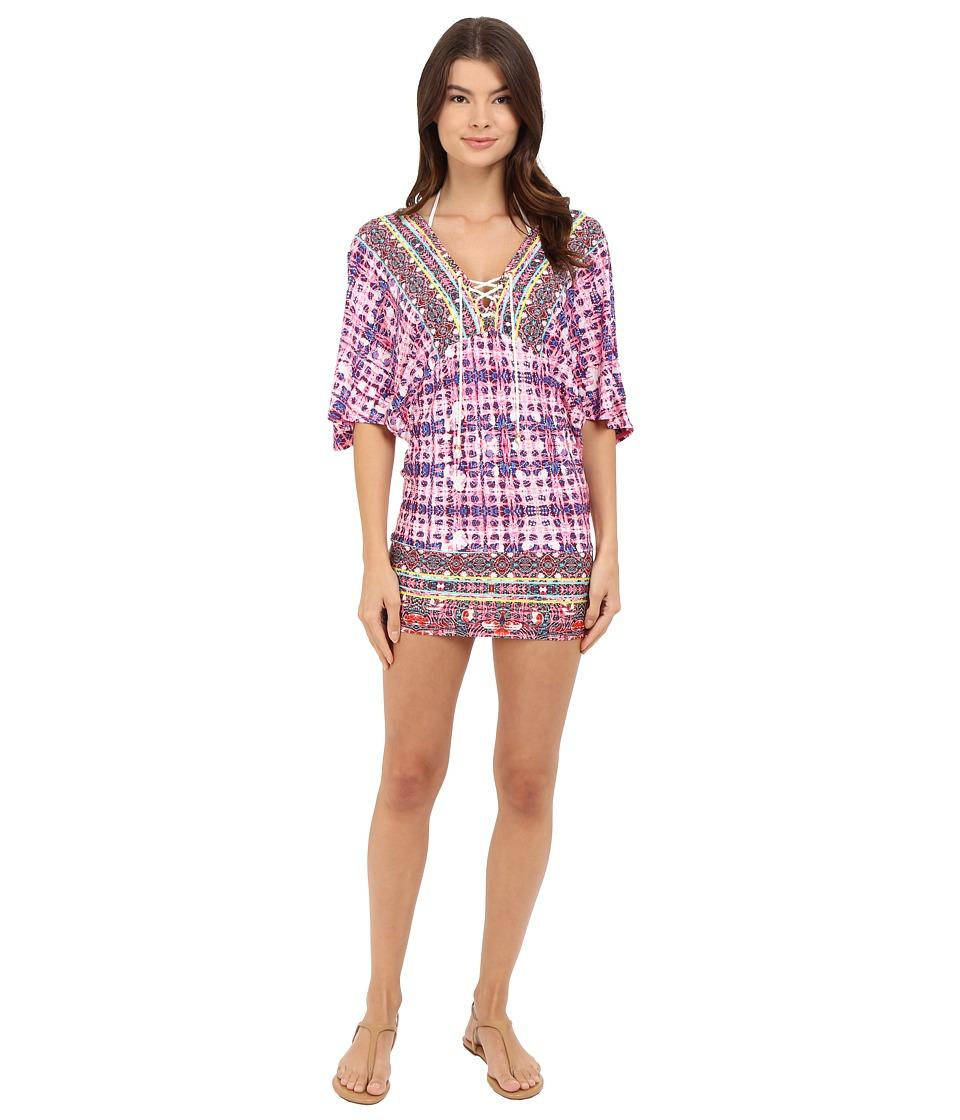 Nanette Lepore Sunset Shibori Tunic Cover Up Multi Womens Swimwear