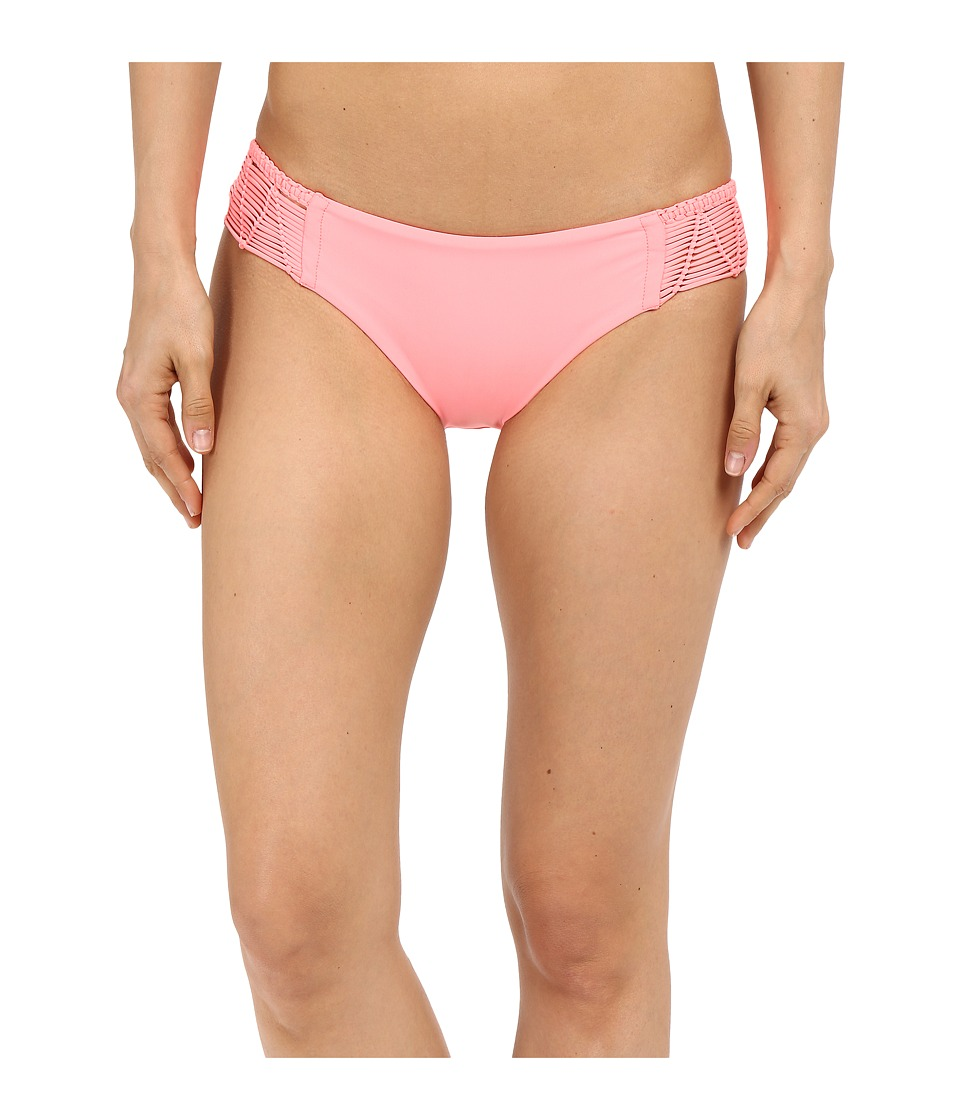 Luli Fama Heart Of A Hippie Weave Full Bottom Pink Sunsets Womens Swimwear