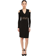 YIGAL AZROUËL - Cold Shoulder Long Sleeve V-Neck Dress