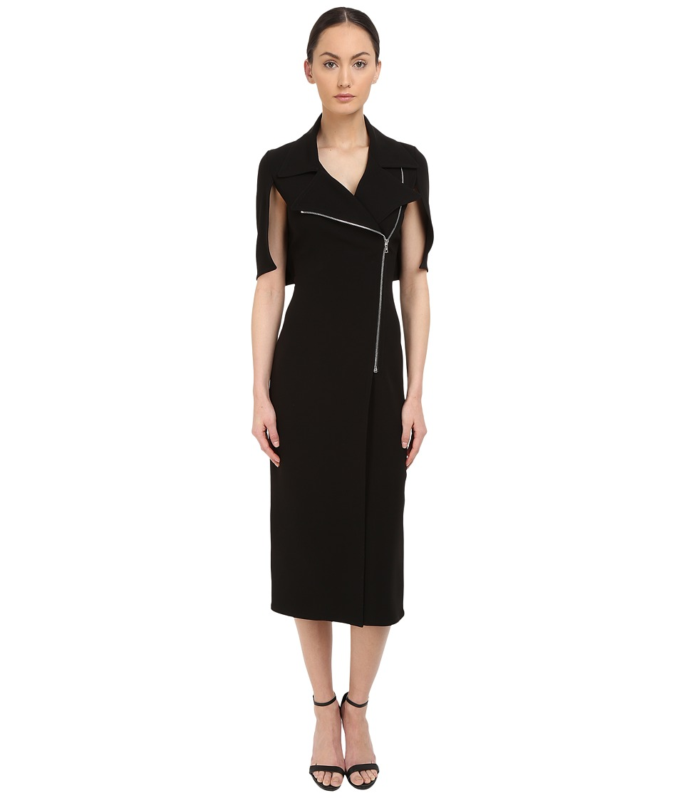 YIGAL AZROU L Moto Zip Dress Black Womens Dress