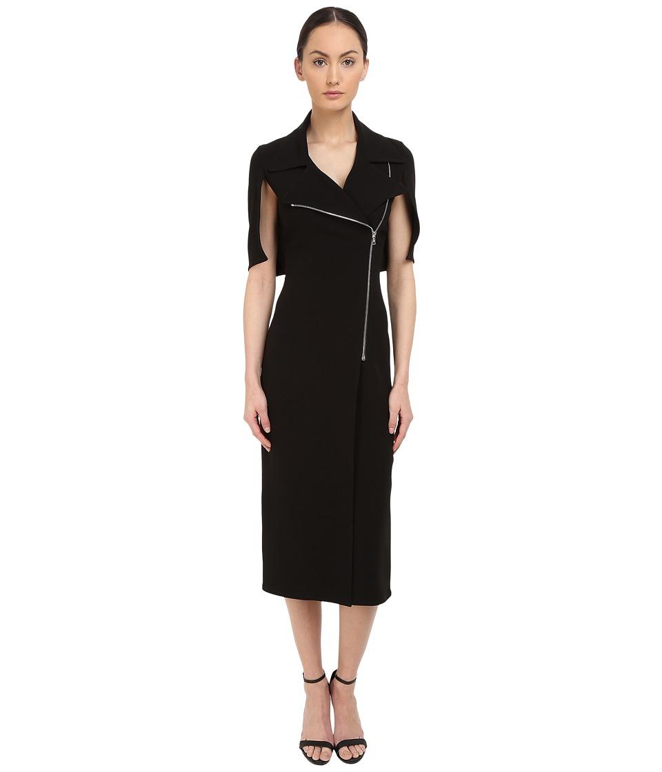 YIGAL AZROU L Moto Zip Dress Black Womens Dress