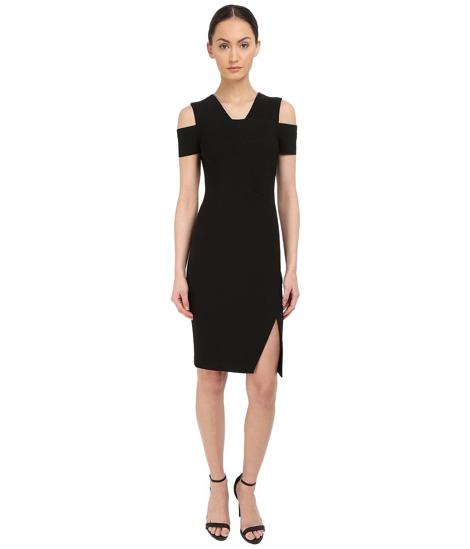 YIGAL AZROU L Cold Shoulder Mini Stretch Dress Black Womens Dress
