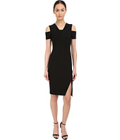 YIGAL AZROUËL - Cold Shoulder Mini Stretch Dress