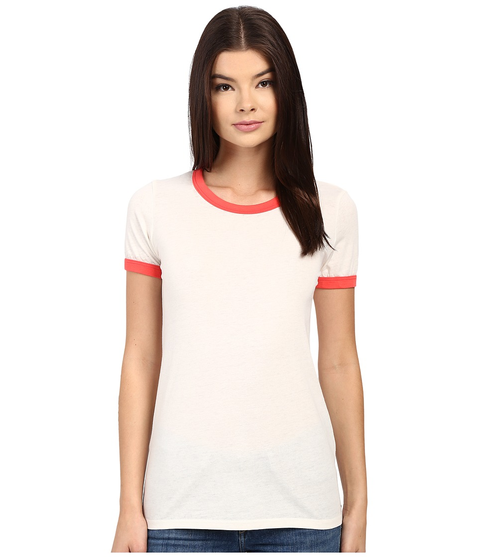 Obey - Sold Out Ringer Tee (Creme/Poppy) Women