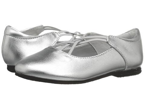 Jumping Jacks Kids Balleto - Kendra (Toddler/Little Kid/Big Kid) - Silver Metallic Leather