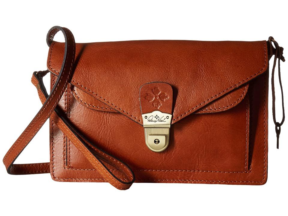 Patricia Nash - Cassano Double Flap Crossbody (Tan) Cross Body Handbags