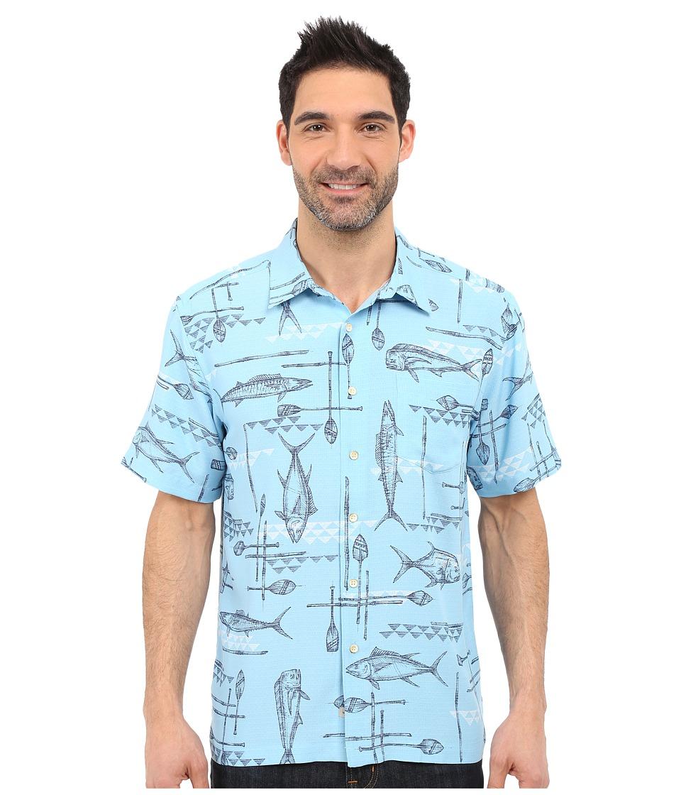 Quiksilver Waterman Small Kine Short Sleeve Woven Shirt Clean Air Mens Short Sleeve Button Up