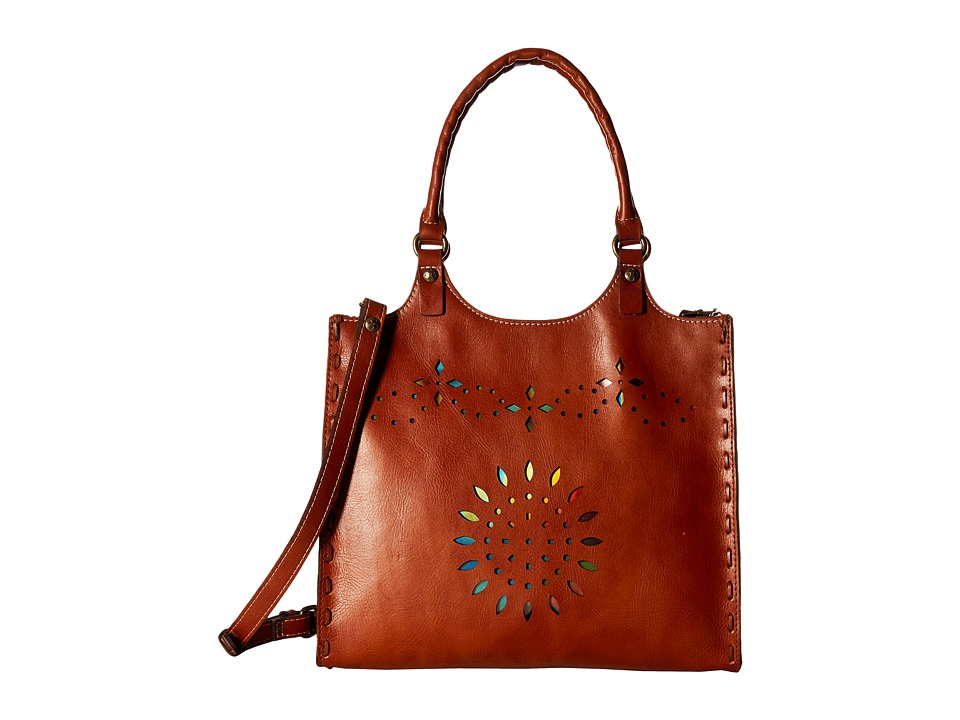 Patricia Nash Chiara Large Satchel Tan Satchel Handbags