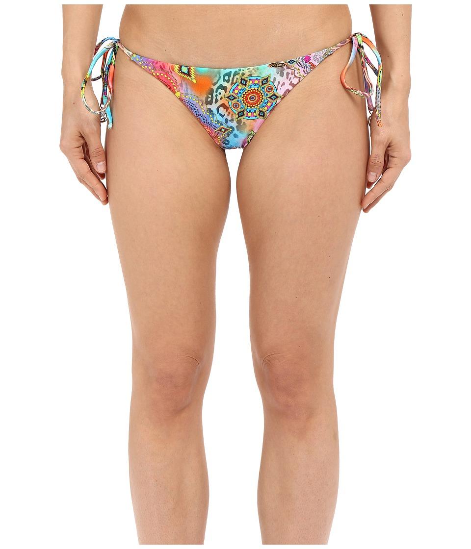 Luli Fama Boho Chic Seamless Brazilian Ruched Back Bottom Multi Womens Swimwear
