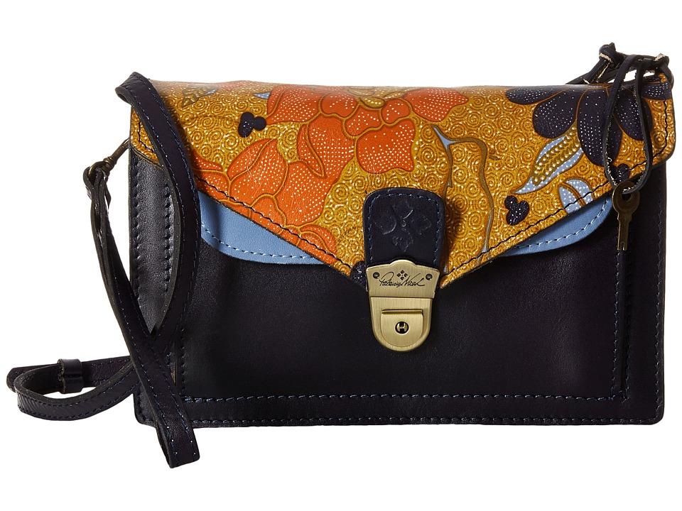 Patricia Nash - Cassano Double Flap Crossbody (Exotic Island Gold) Cross Body Handbags