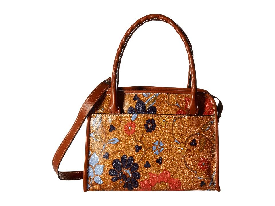 Patricia Nash - Paris Satchel (Exotic Island Gold) Satchel Handbags