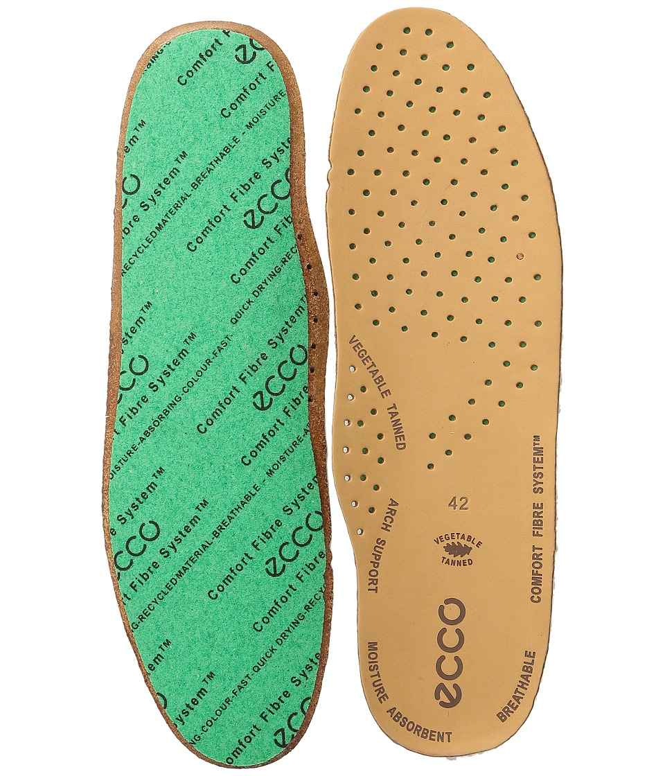 ECCO Comfort Fiber System Leather Insole Lion Womens Insoles Accessories Shoes