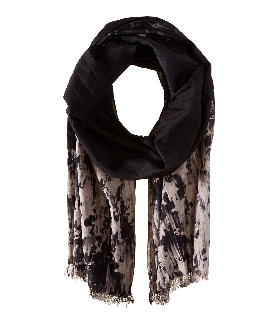 John Varvatos Star U.S.A. Ombre Star Scarf Charcoal Scarves