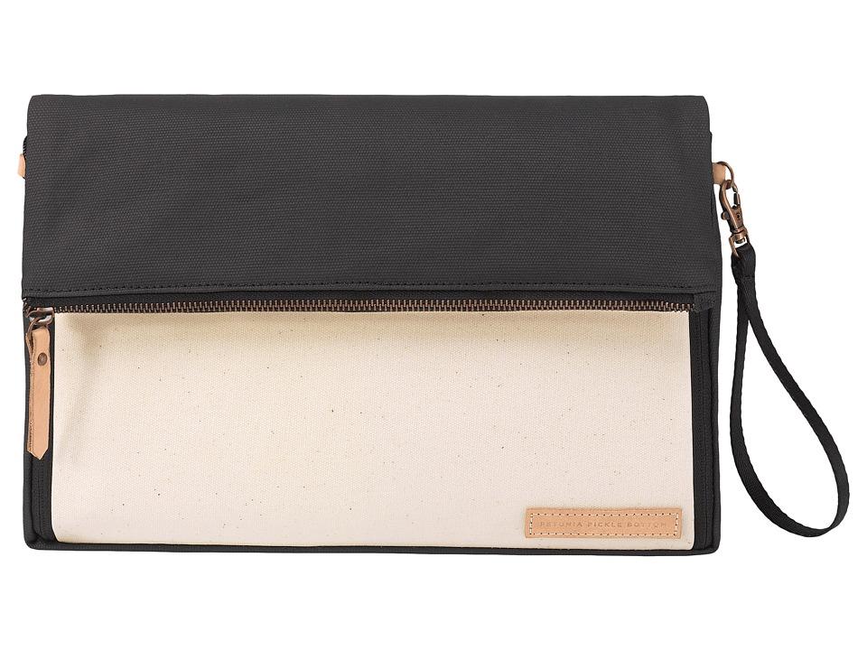 petunia pickle bottom - Glazed Color Block Crossover Clutch (Birch/Black) Clutch Handbags
