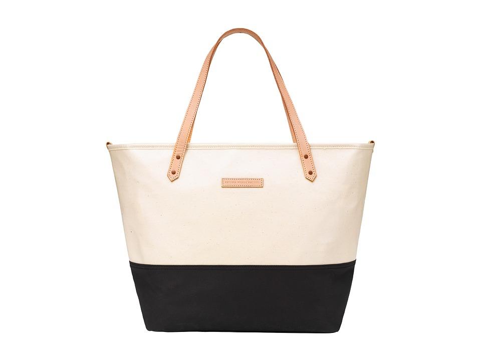 petunia pickle bottom - Glazed Color Block Downtown Tote (Birch/Black) Tote Handbags