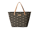 petunia pickle bottom Woven Linen Cotton Downtown Tote (Constellation)